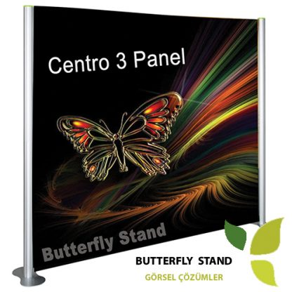 centro stand 3 panel 225x200