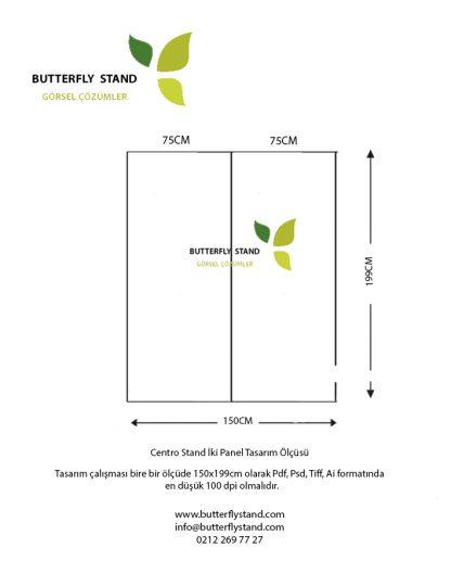 centro stand iki panel tasarım ölçüsü