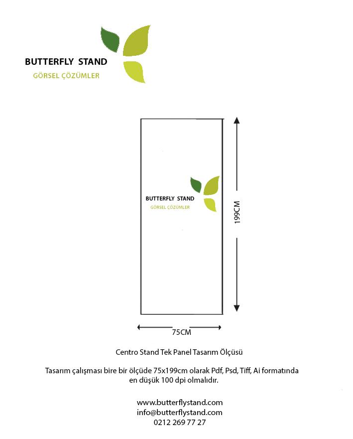 Centro stand 1 panel tasarım ölçüsü şablonu-modelleri