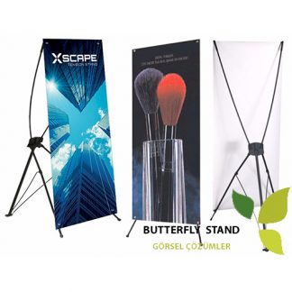 X Banner-Butterfly Stand